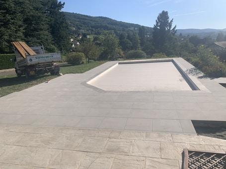 Terrasse piscine carreaux 60*60 en 2cm