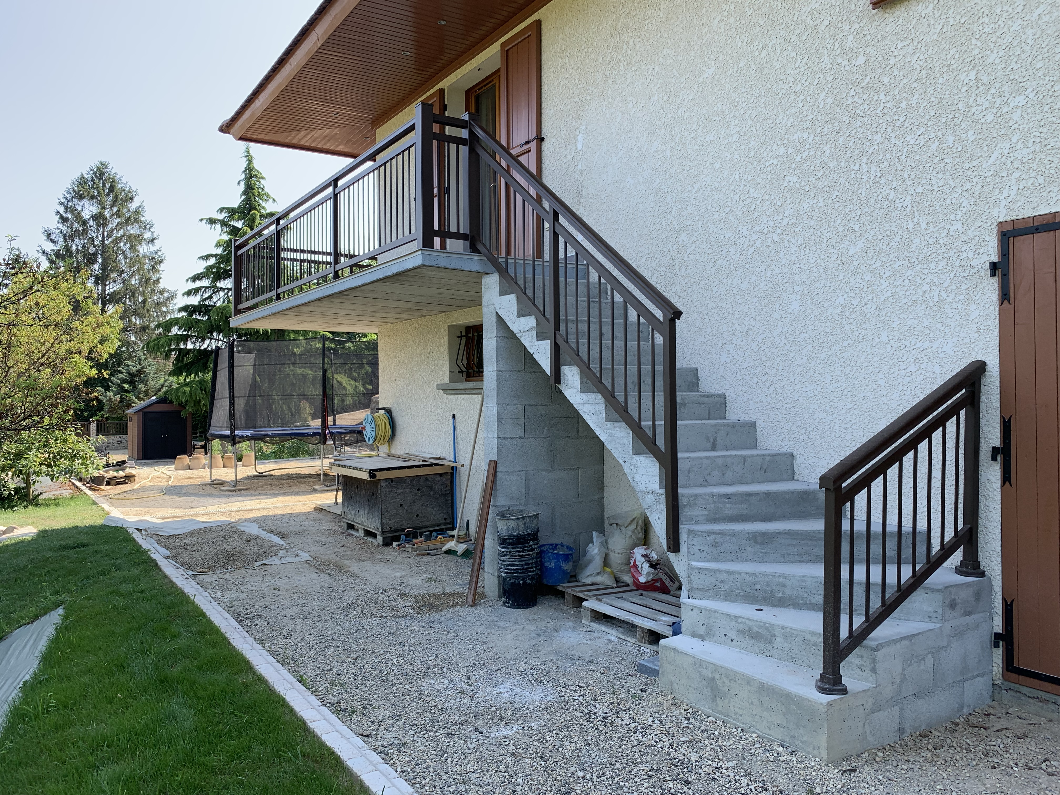 Rambarde escalier Balcon en Aluminium