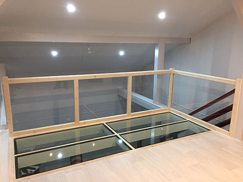 Aménagement intérieur : escalier et combles